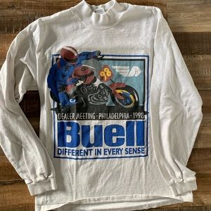 Vintage Buell motorcycle T-shirt long sleeve